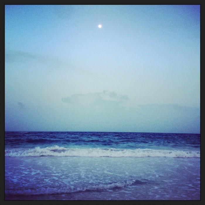 moon on sunset